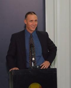 Tim Gortsma speaks before ribbon cutting