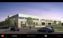 artist rendering of completed facility courtesy of Design Plus