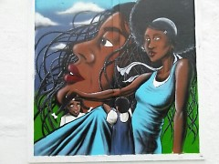 The new mural at House of Style created by WMCAT