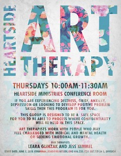 Art therapy program at Heartside Ministry
