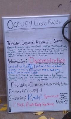 Weekly schedule of OccupyGR