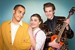 From left: Hugo Peabody (Micah Hazel), Kim Macafee (Katie Duiven), Conrad Birdie (Jacob Loader)