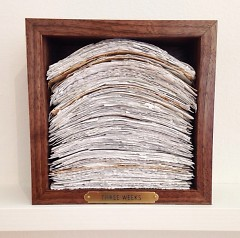 Miriam Wassenaar, Accounting for Time, 2015. Remnants of various labors.