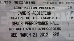 Jane's Addiction's first GR show since December 1988.