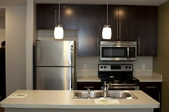 Double bedroom unit kitchen