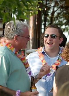 Lee Scott at BGC's Summer Soiree fundraiser at Peter & Joan Secchia's Lake Michigan home.