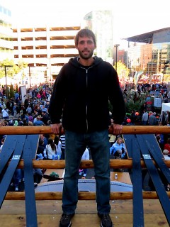 Eric Kravako on top of the Okavark