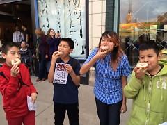 Press Club members enjoy Propaganda Doughnuts' special 'Avenue for the Arts Doughnut'
