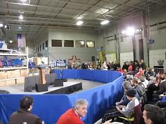 Crowd waiting for Biden