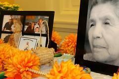 Photographs and marigolds often grace altars