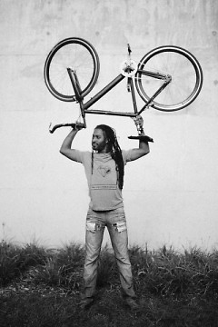 The author of this article, Martel Posey, having fun with his bike