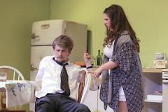 Colin Maxwell Beerens as Paul Bratter, Maureen O'Brien as Corie Bratter