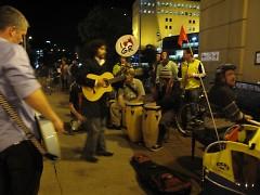Cabildo rocks out at the GVSU bus stop downtown