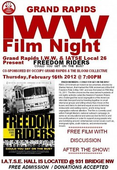 """""""Freedom Riders: Could You Get on the Bus?"""" is the next film to be presented by the local IWW"""