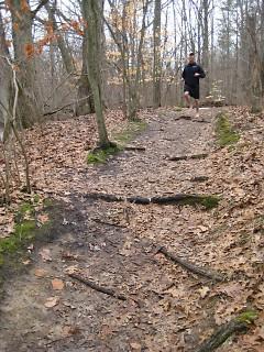 Jason Robillard on the run
