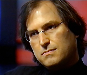 Steve Jobs during the interview