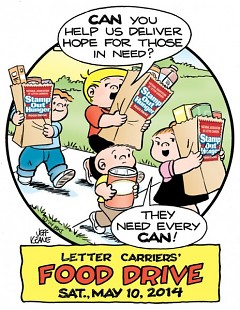 Continuing a family tradition, Jeff Keane, son of cartoonist Bil Keane, created the poster for Stamp Out Hunger 2014.