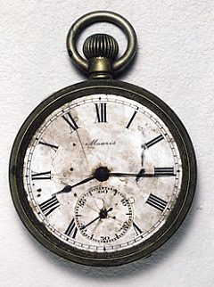 Kengo Nikawa carried this watch, a treasured gift from his son, as he headed for work on August 6, 1945.