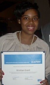 Kristian with her Project Blueprint diploma