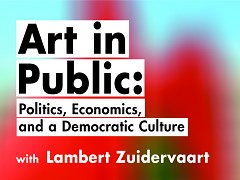 Art in Public book launch, lecture, and symposium