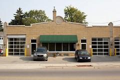 Former service garage turned art gallery