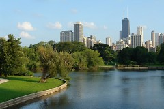 Lincoln Park on the north side of Chicago