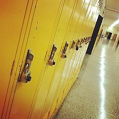 School hallways lie dormant during the summer months.