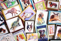 a variety of pet magnets that Amy will have at The Market