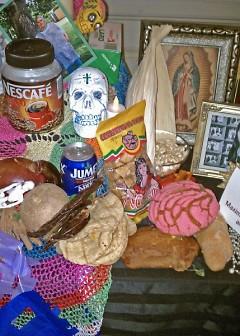 Altar detail for Dia de Los Muertos, Grand Rapids Public Library