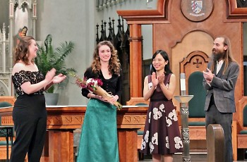 The $10,000 Keller Award for a rising young singer was presented on Thursday, March 21, at the 2019 Grand Rapids Bach Festival.