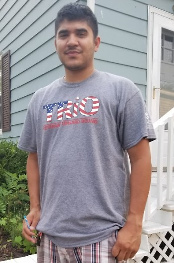 Orlando Santiago in his Trio Veterans Upward Bound t-shirt.