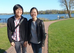 Patrick Hekman and Grace Kim are leading the LiNK chapter at Calvin College