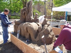 Sand carving from Greg Butauski