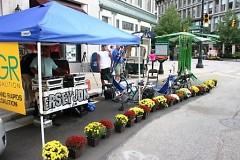 The Greater Grand Rapids Bicycle Coalition Parking Day space