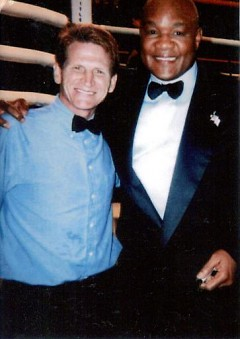 Meeting George Foreman at the Van Andel Arena 6 years ago during a World Title fight