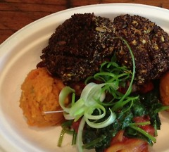 Red quinoa and oat cake, Kangaroo Kitchen