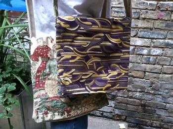 Handbags made from salvaged fabric