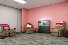 The lounge section of the Rose Room at the new Bethlehem Intergenerational Center