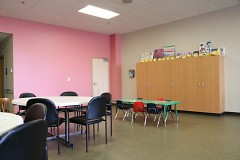 The Rose Room's dining area at the new Bethlehem Intergenerational Center
