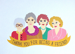 Golden Girls greeting card