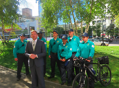 Safety Ambassadors pose with Kristopher Larson of DGRI during the program launch announcement