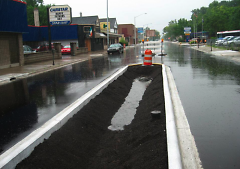 Construction of bioswales on Plainfield Avenue