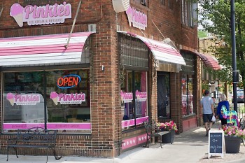 Pinkie's Ice Cream in the Wealthy St. business district.