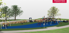 Pleasant Park Playground Design, 2013