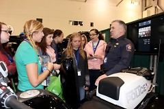 Students learn what it's like to work for the Grand Rapids Police Department.