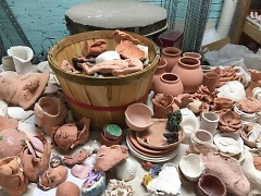 Pottery cleaning at Heartside Ministry