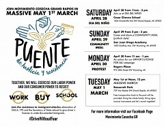 The flyer for the Puente.
