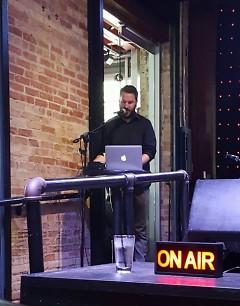 Quinn Mathews hosting GR Live at The B.O.B.