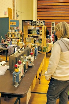 City High Middle School Recycle Art Market