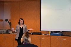 Mariah Cowsert presenting at workshop